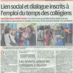 Lien social et dialogue au collège