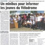 Minibus pour informer les jeunes du Vélodrome